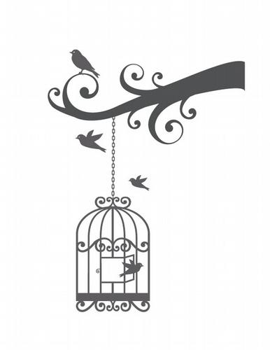 BC319 Swirly Bird Cage