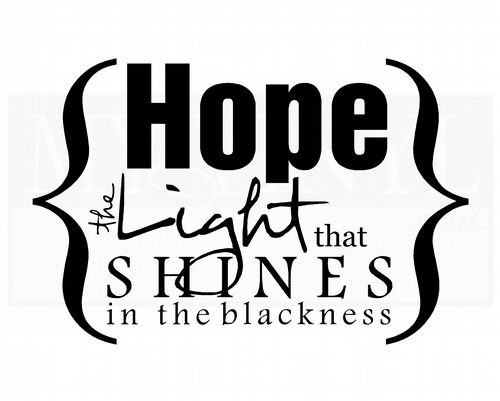 IN021 Hope the light that shines in the blackness