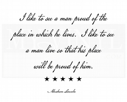 H014 I like to see a man proud of the place in which he lives