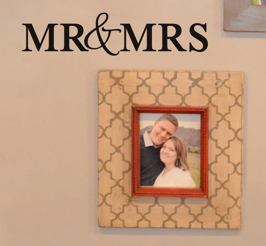 CLEARANCE Mr & Mrs 22 x 5 vinyl graphics