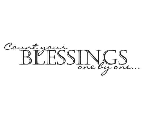 KW118 Count your blessings
