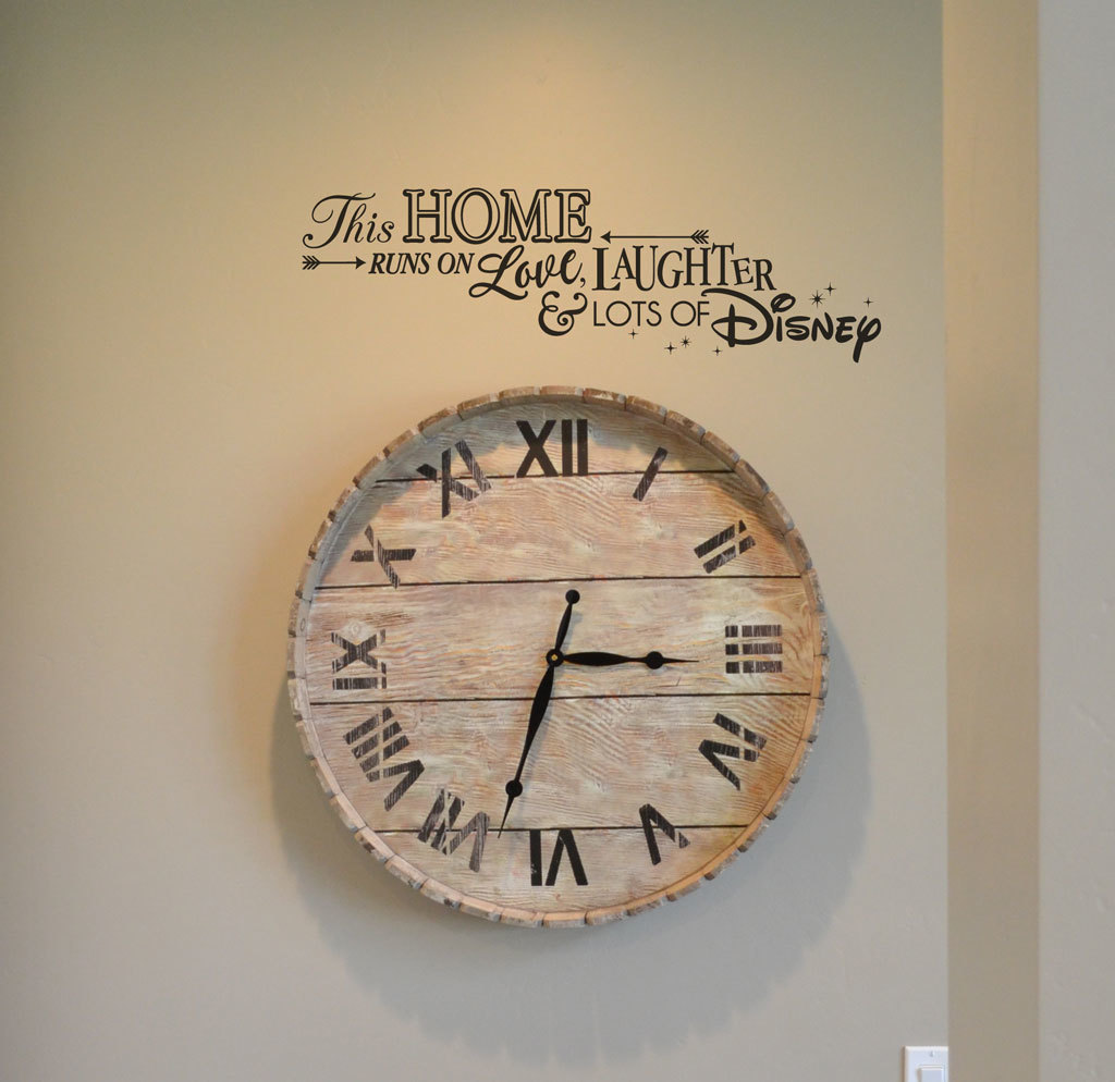 This home runs on love, laughter and lots of Disney decal sticker KW1309