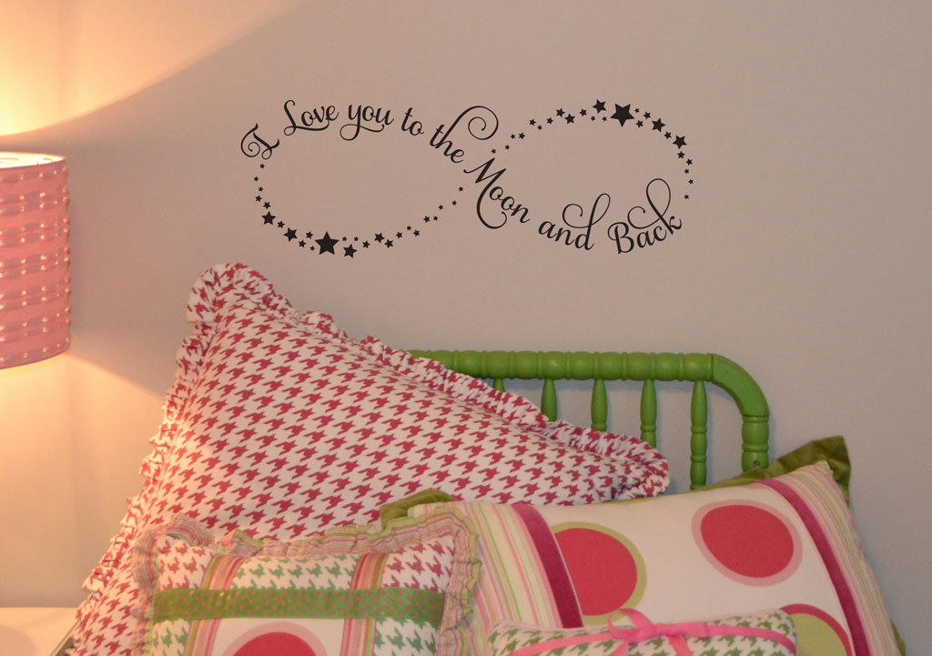 I love you to the moon and back wall decal sticker KW1175