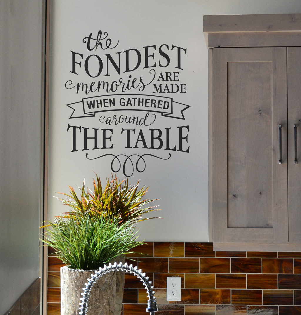 The fondest memories are made decal sticker KW1300