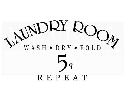 LA001 Laundry Room wash dry fold repeat