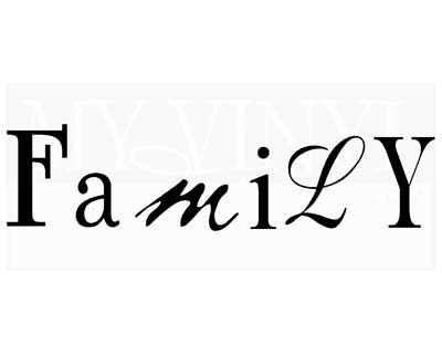 FA032 Family vinyl decal sticker