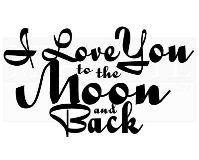 LO026 I love you to the moon and back