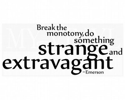L039 Break the monotony adventure do something strange