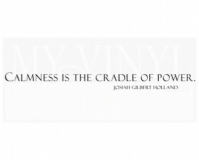 IN005 Calmness is the cradle of power