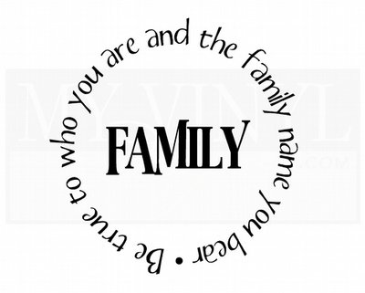 FA003 Family Be true to who you are and the family name you bear