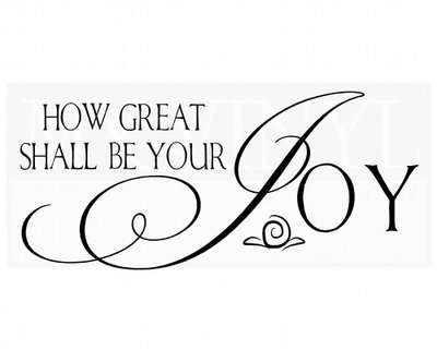 C035 How great shall be your joy