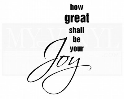 C057 How great shall be your joy