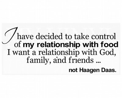 HF003 I have decided to take control of my relationship with