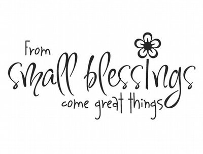 BC145 From small blessings