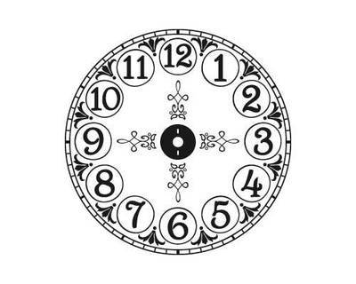 CL204 Brittany's Vintage clock vinyl decal sticker