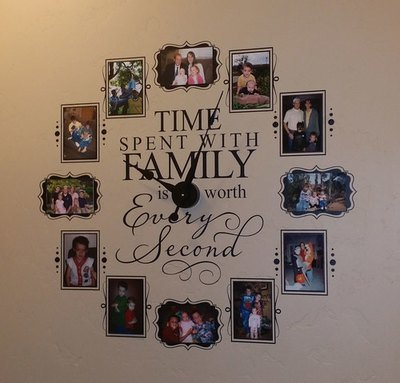 CL205 Family Photo Vinyl Wall Clock