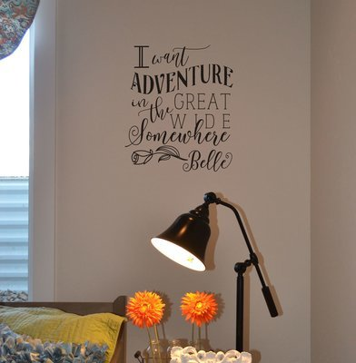 I want adventure in the great wide somewhere decal sticker KW1359