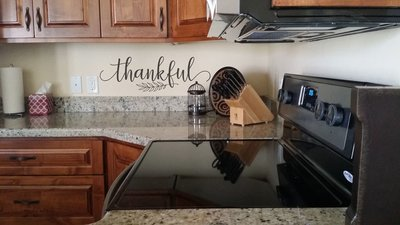Thankful vinyl wall decal BC836