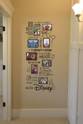 We do Disney in this house photo collage BC838