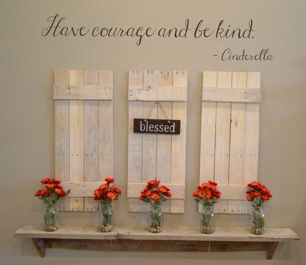 Have courage and be kind Cinderella Disney decal wall sticker LK100