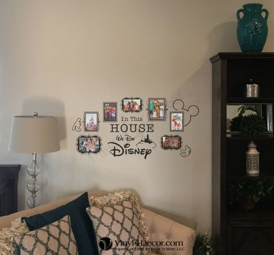 Disney In this house we do Disney vinyl photo decal BC824