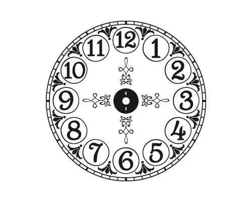 CL204 Brittany's Vintage clock vinyl decal sticker