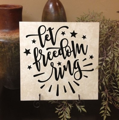 CLEARANCE Let freedom ring 11 x 11