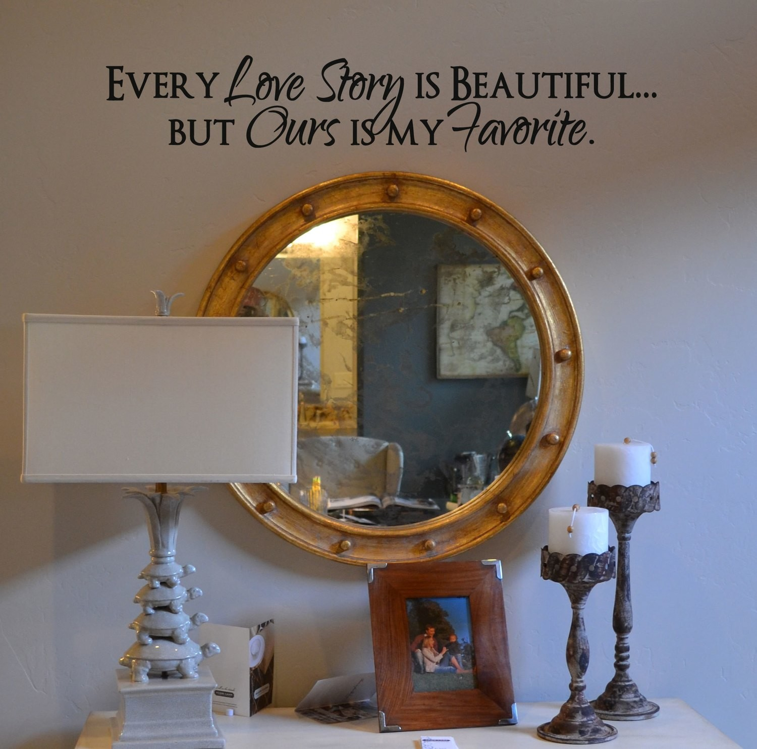 Every love story is beautiful wall decal KW217