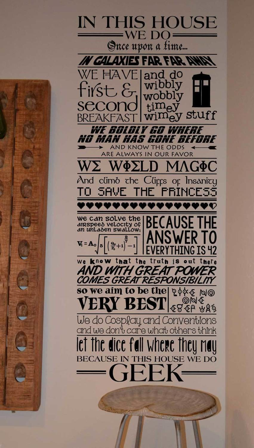 In this house we do geek wall decal LM001