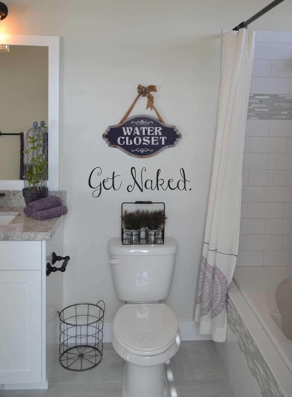 Get Naked bathroom decal BA107