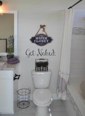 Get Naked bathroom decal BA107