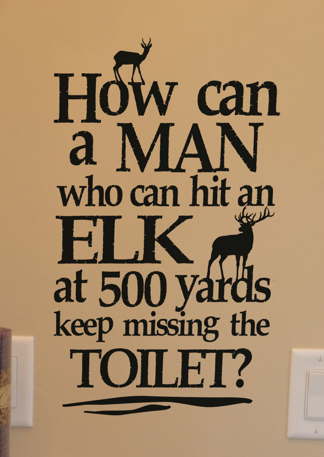 KW1209 How can a man who can hit a ELK...