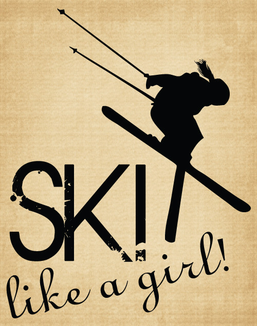 BM018 Ski like a girl
