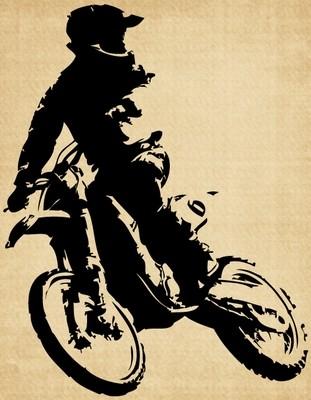 IM013 Dirt Bike looking back