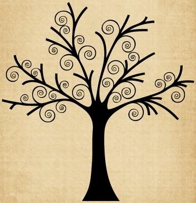 TR017 Tree with Swirls
