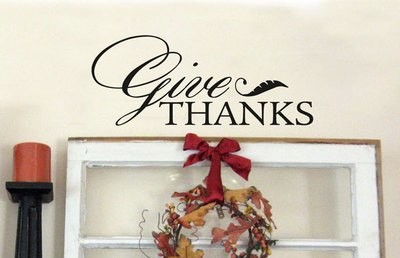 FB005 Give Thanks vinyl decal