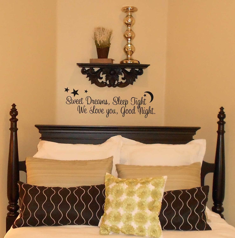 Sweet dreams, Sleep tight vinyl wall stickers CT106