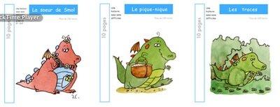 3 livres : SMOL et LUCIOLE niveau BLEU CLAIR A