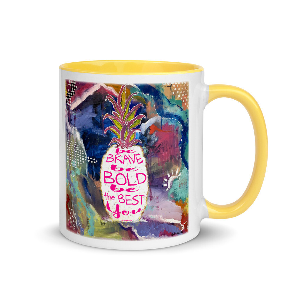 The Best You Mug with Yellow Inside