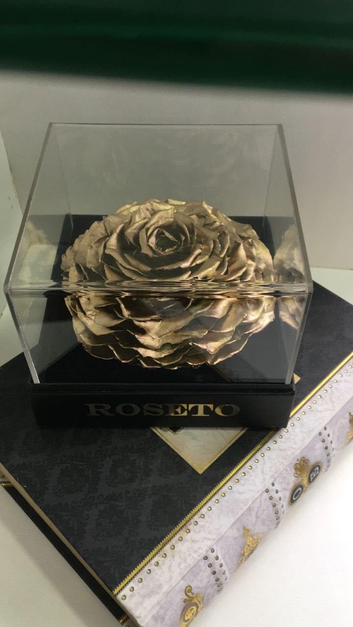 Joyero acrílico con rosa Jumbo