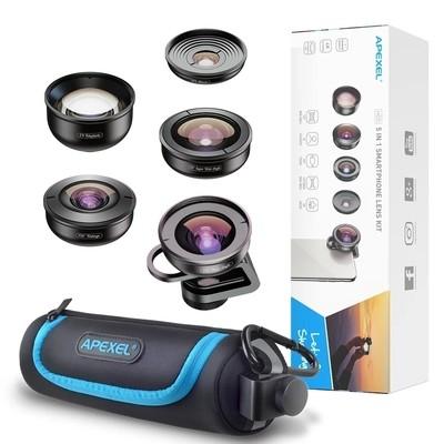 Apexel 5 in 1 Professional HD Phone Lens