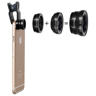 3 in 1 Phone Lens Combo (Macro, Wide, Fisheye) [NO COD]