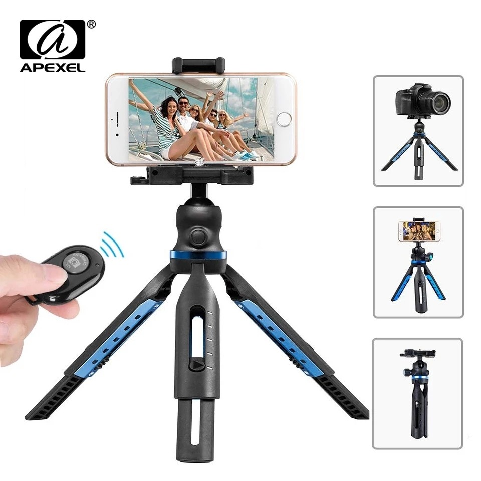 Apexel Multi-functional Mini Tripod for Phone DSLR Cameras[New 2019]