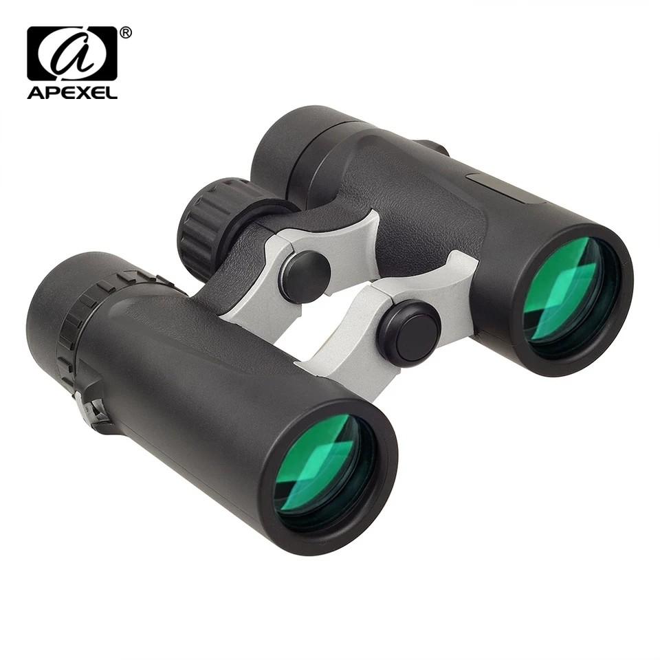 APEXEL 8x25 Waterproof Binoculars  telescope Zoom for World Cup Outdoor bird watching Camping Hiking Travel Sports