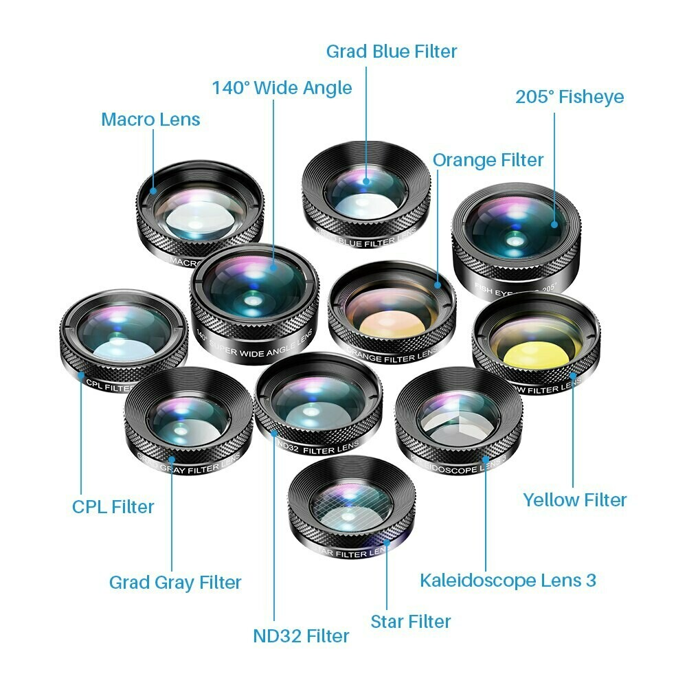 Apexel 11 in 1 Phone Combo Lens + Filters [New Launched 2020]
