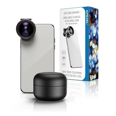 Apexel 2in1 120 Degree Wide Angle + 10x Macro Phone Lens [New 2020]