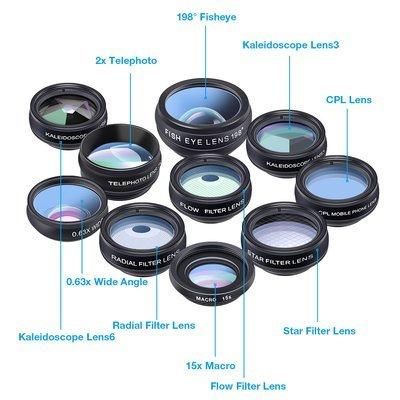 Apexel 10 in 1 Phone Lens Combo