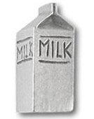 Milk Carton Pewter Pin