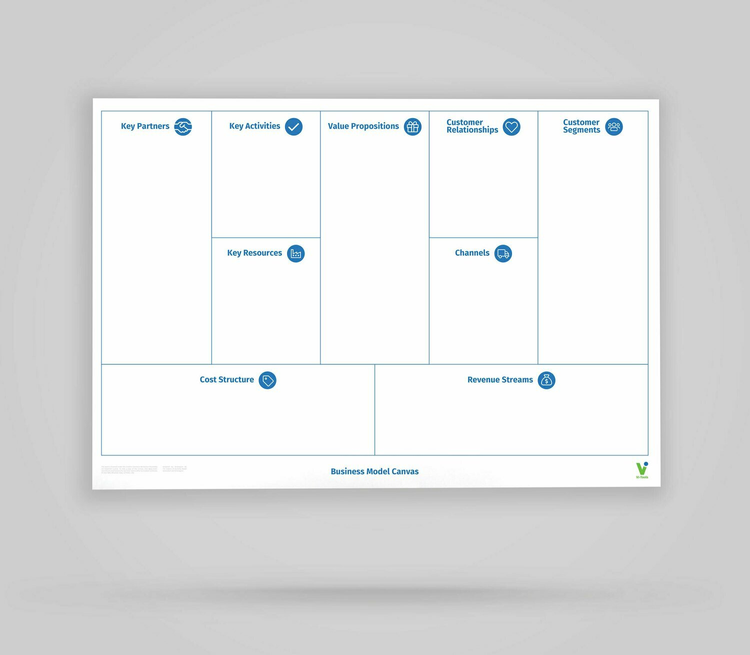 Vi-Board: Business Model Canvas - Whiteboard Poster - DIN A0