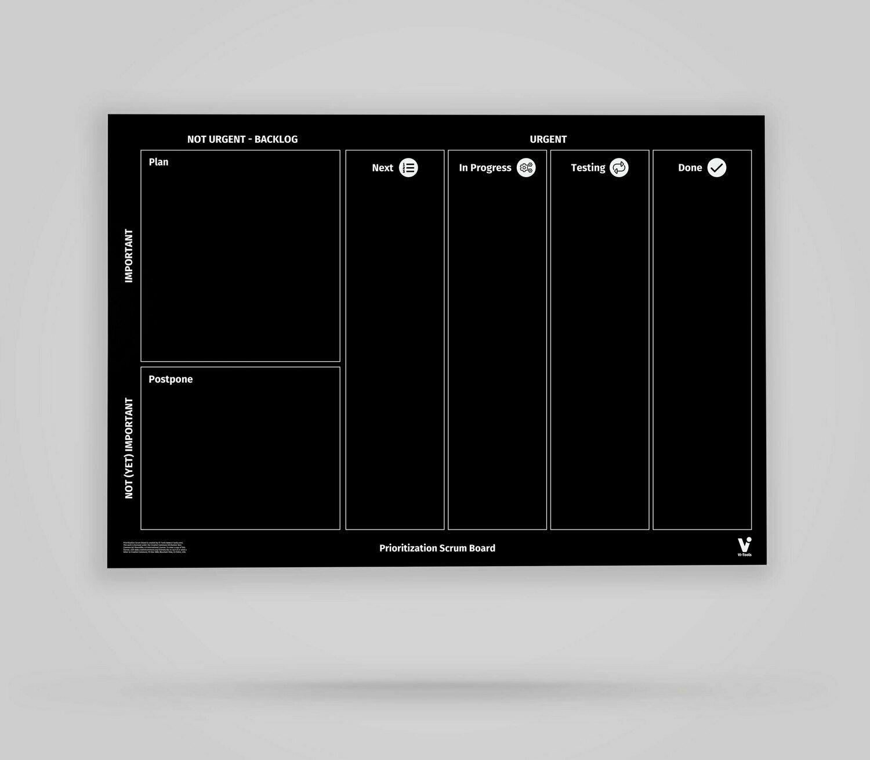 Vi-Board: Prioritization Scrum Board - Blackboard Poster - DIN A0